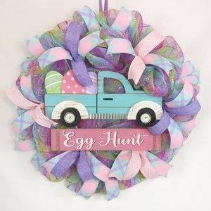 🌷Easter Truck Egg Hunt Welcome Wreath🌷